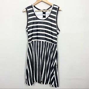 YA Los Angeles Black and White Striped Dress